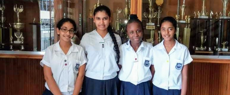 From left to right: Shivika Maharaj, Victoria Dookoo, Mikah Stroude, Ravishta Lutchman