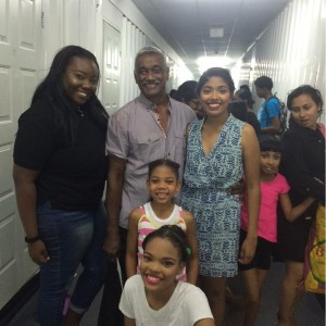 Director Victor Edwards and some cast members