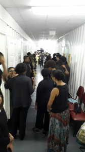 Cast getting ready before the Show