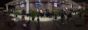 Crowds on Saturday Night